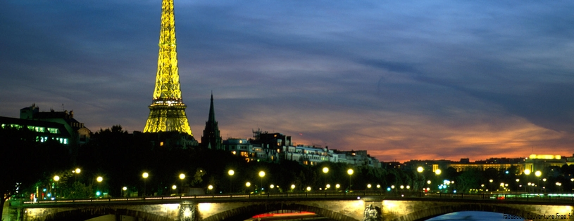 Seine River and Eiffel Tower Paris France