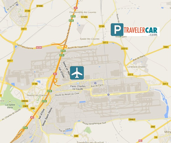 map parking roissy travelercar travelercar. Black Bedroom Furniture Sets. Home Design Ideas
